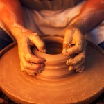 Artist Working on Pottery wheel