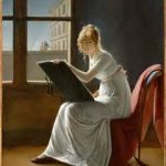 woman drawing painting