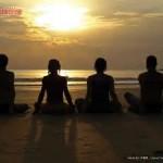 meditaiton on beach goup